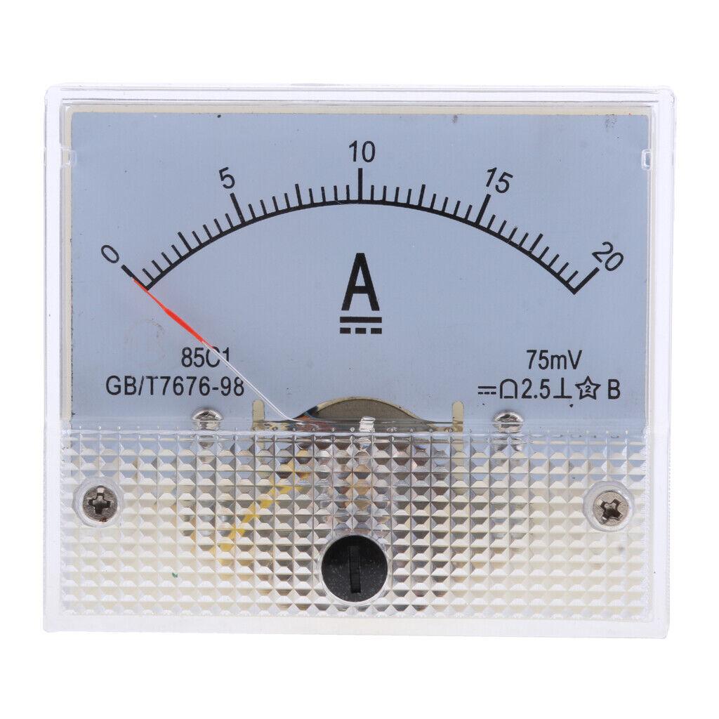 BRAND NEW 50 UA 50UA DC MICROAMP CURRENT MICRO AMP A AMMETER ANALOG PANEL METER