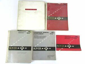 Vintage Rover 2000 OEM Manuals & Parts Catalog Lot (5) Publications 1960s