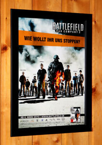 Battlefield-Bad-Company-2-Rare-Small-Poster-Ad-Page-Framed-PS3-Xbox-360-Live