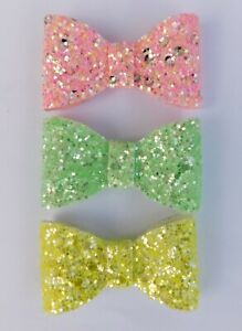 Pink Glitter Birthday Badge Brooch or Hair Bow Clip Age Number Ribbon
