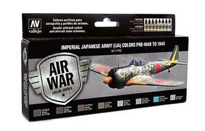 Japonais-Armee-Aircraft-Avant-Guerre-pour-1945-8-Aerographe-Peintures-Vallejo