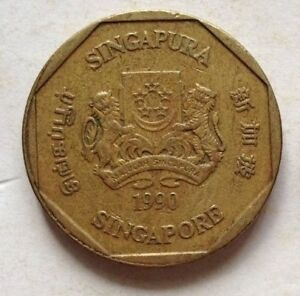Singapore 1990 2nd Series 1 Dollar coin