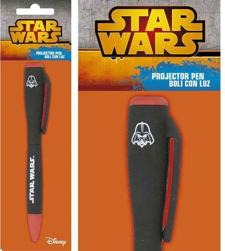 Star Wars Projector Torch Pen Boba Fett Movie Logo Darth Vader Disney