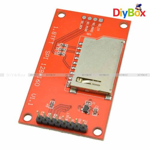 1.8 Pulgadas TFT Pantalla LCD 128x160 interfaz periférica serial Módulo de tarjeta SD Avr Pic STM32 ST7735 Hágalo usted mismo ARM