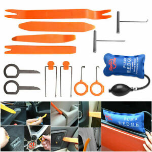 13pcs Car Panel Removal Open Pry Tools Kit Car Radio Trim Removal  Pump Wedge
