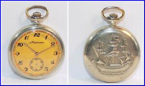 Russian pocket watch Molnija USSR 1980's ~The Perfect Gift #122203