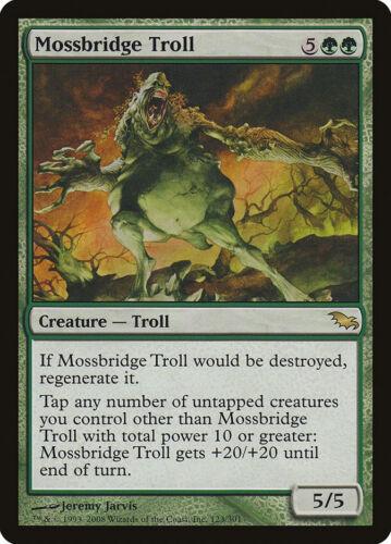 MTG X4: Mossbridge Troll, Shadowmoor, R, Moderate Play - FREE US SHIPPING!