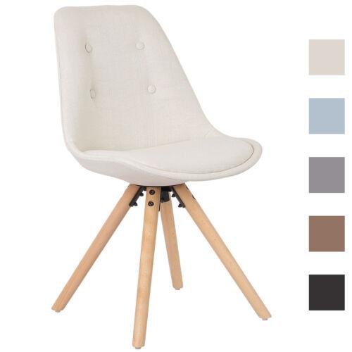 Salle à manger chaise chaise de cuisine en lin createur chaise Structure en bois 1x essstuhl e194