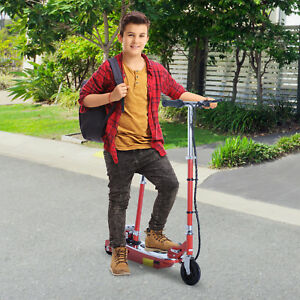 Seated-Electric-Scooter-E-Scooter-Street-Bike-Adjustable-Foldable-Red