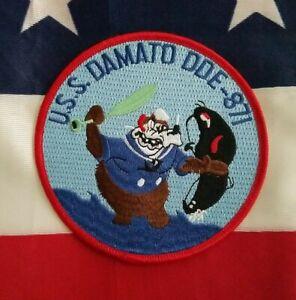 USS Damato DDE 871 Destroyer Ship USN Military Navy Patch