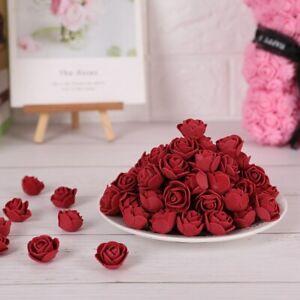 100X-Schaum-Rosen-Kuenstliche-Blumen-Rosenkoepfe-Rosenblueten-Hochzeit-Deko