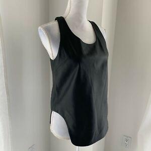 Jonathan Simkhai Black Sleeveless Leather Top SZ M