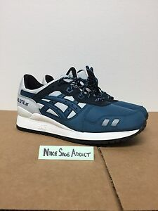 new styles e9359 ecaa6 Details about Asics Gel Lyte III 3 Soft Grey/Dragon Fly H639N-1046 Blue  White Navy Light Kith