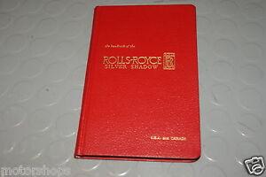 Shadow rolls-royce bentley car manuals and literature   ebay.
