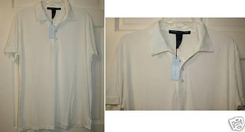 METROPOLITAN VIEW MENS White Polo Shirt NWT SZ L S S