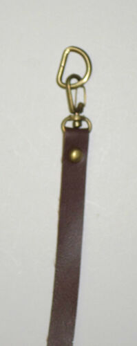 "Faux Leather Bag Handles Single Purse Straps Handbag Straps 15/"" w// D Ring Swivel"