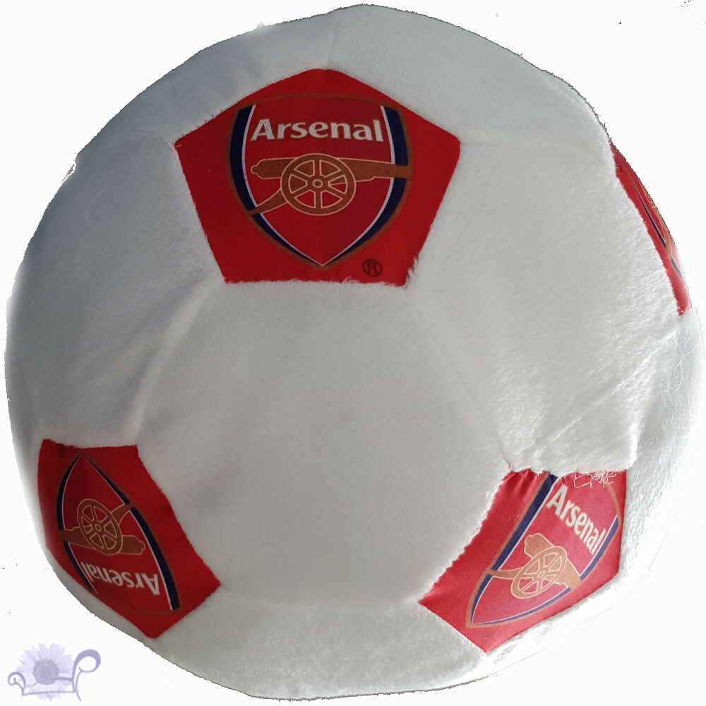 Arsenal Plush Soccer Ball Soft Cushion   22 cm Round Filled   Arsenal Logo