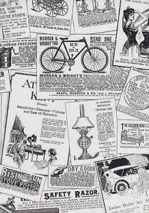 Tapete Zeitung galerie schwarz weiß alt retro werbung zeitung tapete bk32083