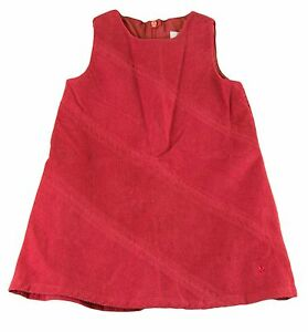 JACADI-Girl-039-s-Broche-Lacquered-Red-Sleeveless-Dress-Age-6-Years-NWT-64