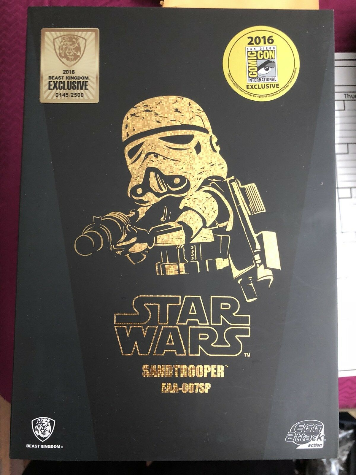 San Diego comic-con 2018 Bestia Reino Sandtrooper Oro Figura De Star Wars Exclusivo de ataque