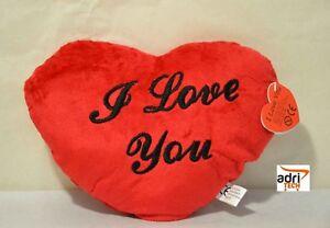 Cuscino i love you san valentino rosso a forma di cuore macchina letto ebay - Letto matrimoniale a forma di cuore ...
