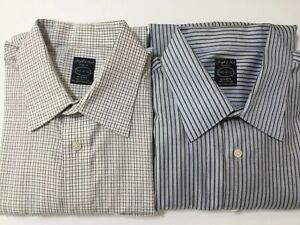 Joseph-amp-Feiss-Stripe-Long-Sleeves-Dress-Shirt-16-1-2-32-33-Lot-Of-2-NWOT