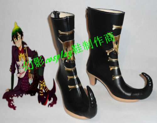 Blue Exorcist Amaimon Black Halloween Long Cosplay Shoes Boots