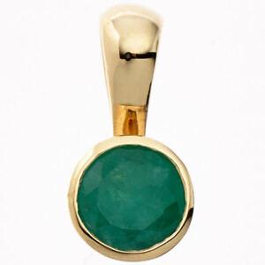 Colgante-con-Verde-Esmeralda-333-Oro-Amarillo-Oro-Smaragdanhanger-Sencillo-Mujer
