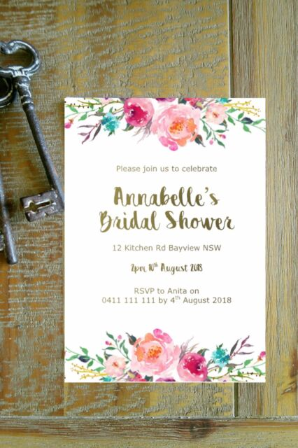 Printable personalised bridal shower baby shower invitation boho printable personalised bridal shower baby shower invitation boho floral filmwisefo