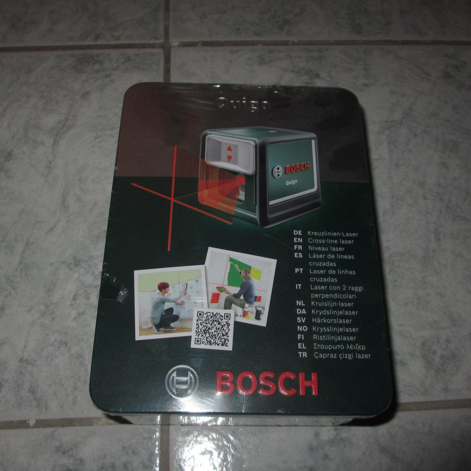 Bosch Kreuz- und Linienlaser Quigo, in Geschenkbox verschweißt, 0603663200