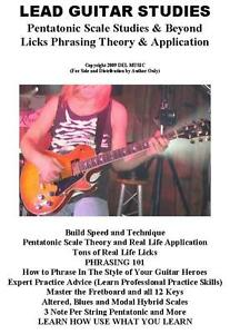 Lead Guitar Lessons E Book on CD Rock Blues Lead Licks Theory Tab Scales