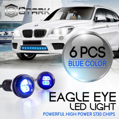 6PCS Eagle Eye 18mm 5730SMD High Power BLUE LED Fog Light DRL Backup Signal
