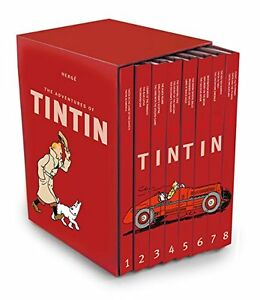 The Complete Adventures of Tintin Collection 8 Books Gift Set by Herge New