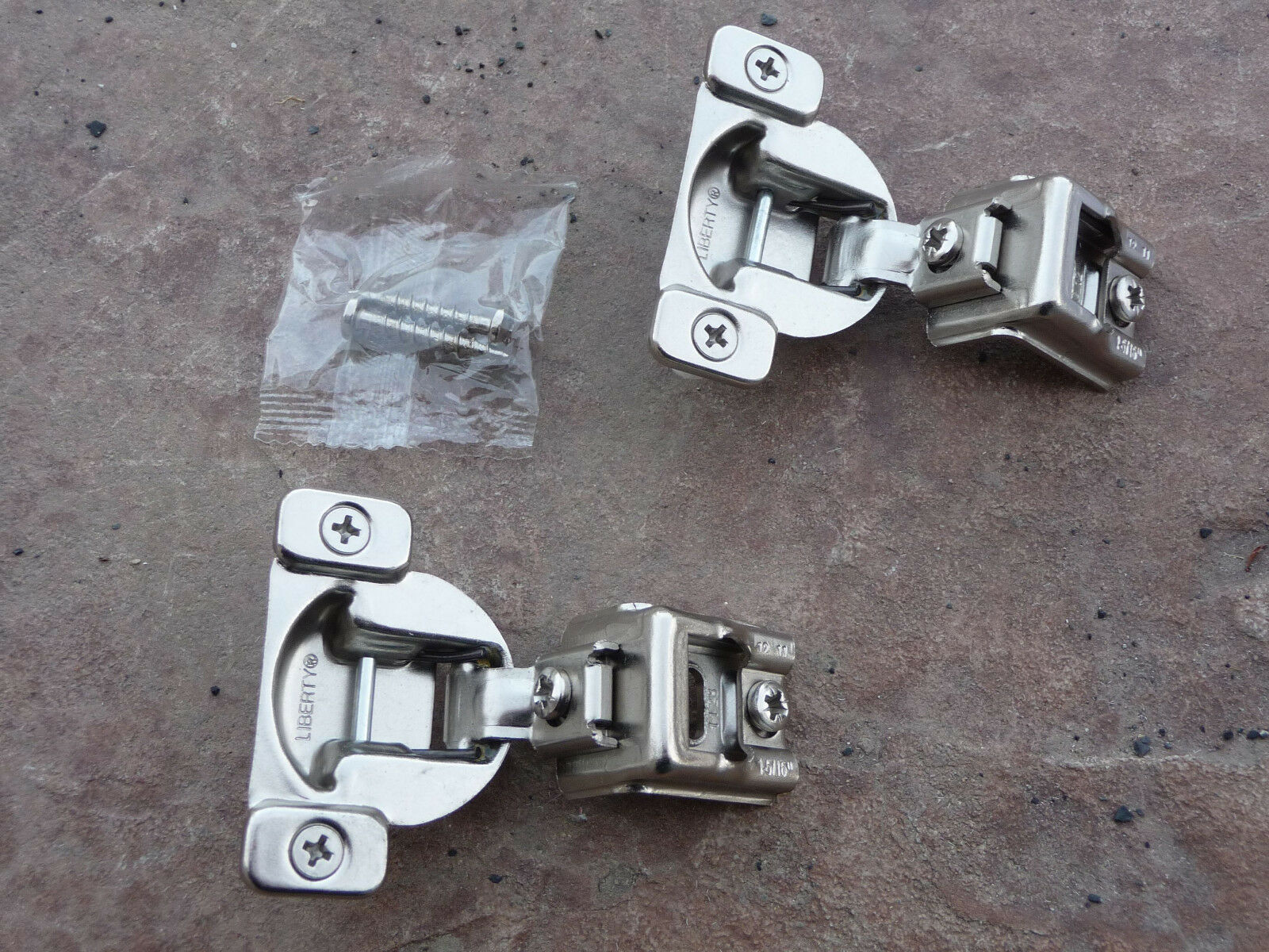 80 (40 sets) Liberty Cabinet Hinges 1-5 16  Overlay European Conceald 108 Degree