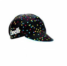 """NEW Cinelli """"Caleido Spots"""" Cotton Cycling Cap - ONE SIZE -retro fixed track"""