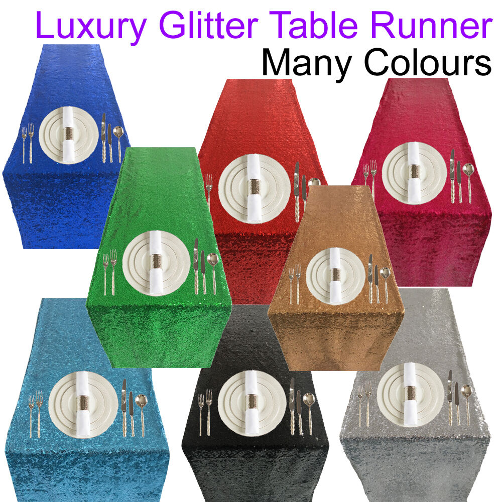 Glitter Table Runner Accessories Sequin Party Celebration Table Decoration Decor