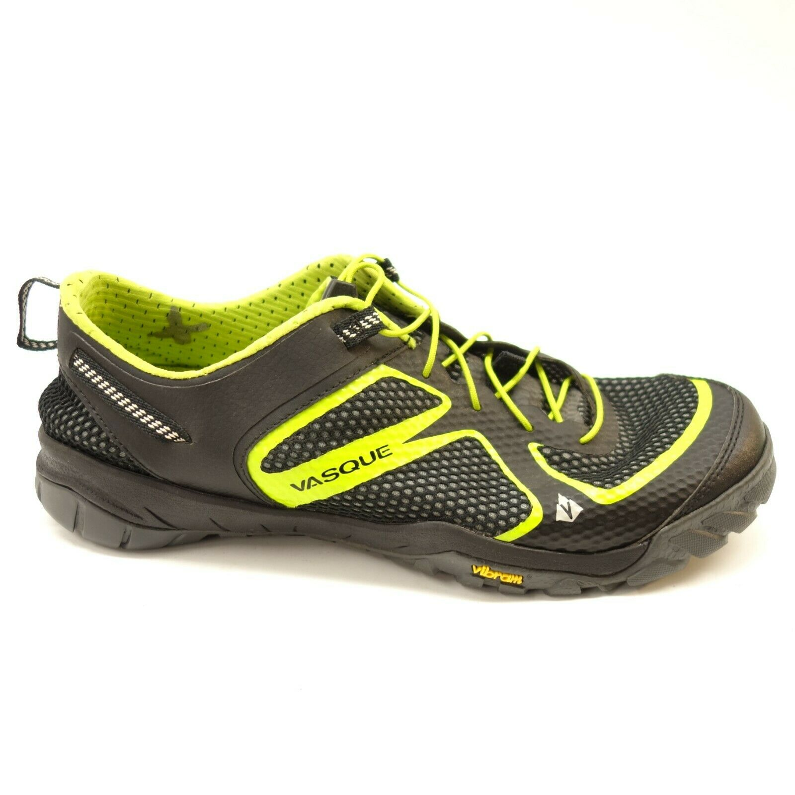 Vasque Mens Lotic Black Lime Athletic Trail Vibram Running shoes Size 11.5
