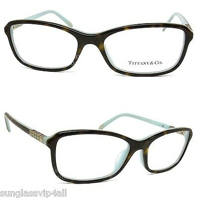*NEW AUTHENTIC TIFFANY & CO. TF2075 8134 TOP HAVANA/BLUE EYEGLASS FRAME Size 53