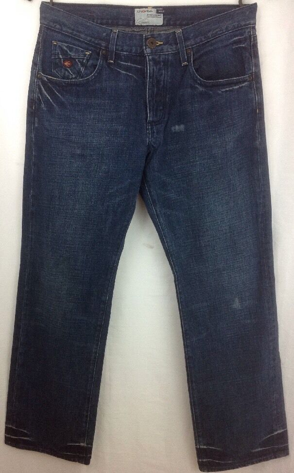 AUTHENTIC ENERGIE BUKLEY RELAXED FIT MEN'S ITALIAN blueE JEANS 34 X 34  EUC
