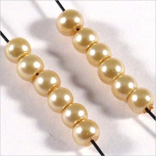 Pack von 200 Perlen mit Perlmuttbeschichtet aus Glas Böhmische 3mm