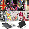 Flip PU Leather Slot Printed Book Wallet Card Case Cover For Samsung Galaxy J5