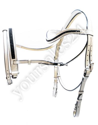 Esperia doma clasica frenillo riendas brida voltegieren cob//full cuero blanco; k25 75