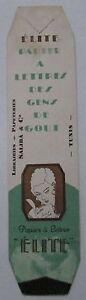 Antique-Brand-Pages-Bookmark-Advertising-Paper-with-Lettres-Elite-Library-Tunis