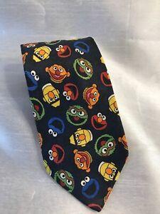 Sesame-Street-Character-Tie-Oscar-Bert-Ernie-Elmo-Cookie-Monster-Navy-57