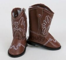 My Life As 18-inch Doll Brown Western Cowgirl Boots, Fits American Girl