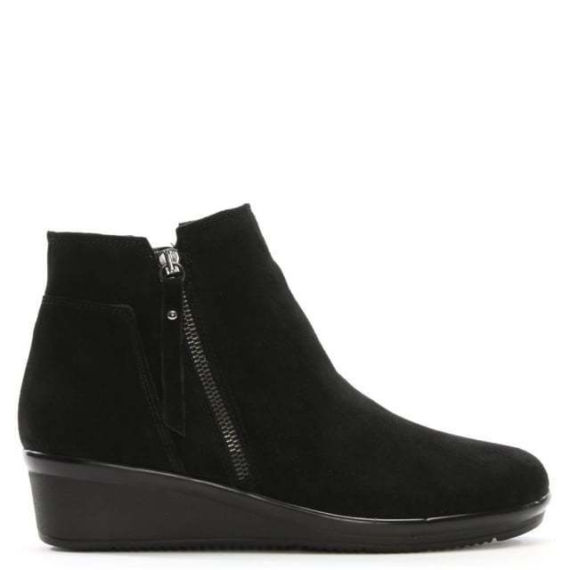 Daniel calzado Lamone para mujer Negro Con Taco De Gamuza Nuevo Botas al tobillo