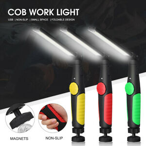 Multifunction-90000-Lumen-Rechargeable-COB-LED-Slim-Work-Light-Lamp-Flashlight