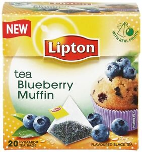 Details about Blueberry Muffin Black Tea Luxury Lipton 20 Pyramid Bags Buy  3 Get 4(1 for FREE)