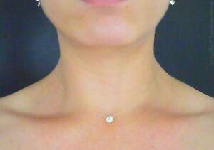 collier ras de cou argent diamant