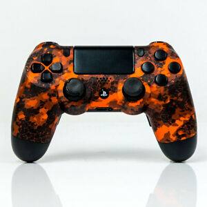 Sony-PS4-DUALSHOCK-4-Orange-Black-mit-Paddles-UMBAU